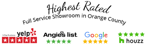5 Stars - Highest Rated - FullService Showroom in Orange County